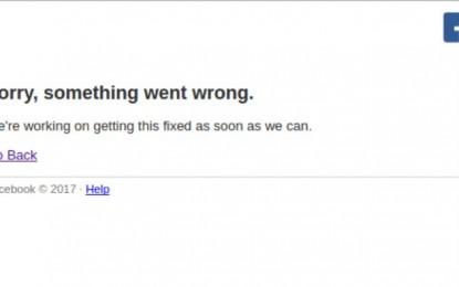Cae Facebook; no permite acceso a algunas páginas