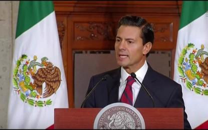 """""""México, por supuesto, no pagará el muro"""": Peña Nieto a Trump"""