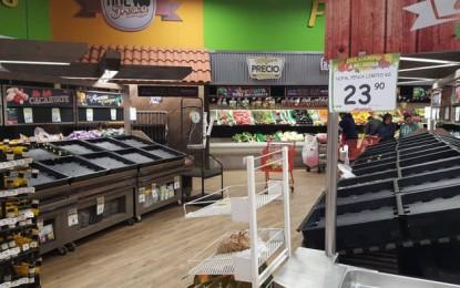 Caos en NCG; tiendas desabastecidas y sólo una gasolinera