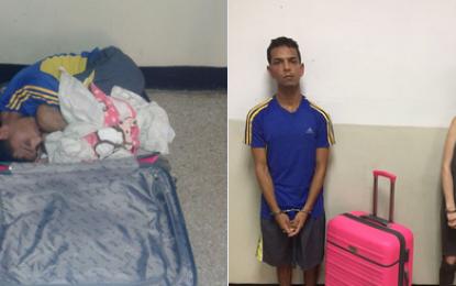 Intentó sacar a su novio de la cárcel ¡en una maleta!
