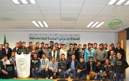 Abanderan delegación deportiva de la Universidad Tecnológica de Parral