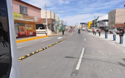 Entrega alcalde Boulevard Ortiz Mena totalmente pavimentado
