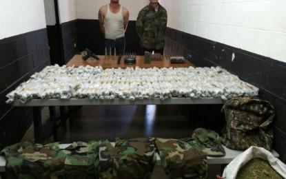 Caen 2 del Cártel de Sinaloa con arma y droga en El Largo Maderal