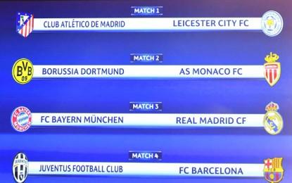 Con Bayern-Real Madrid y Juve-Barça, definen los cuartos de Champions