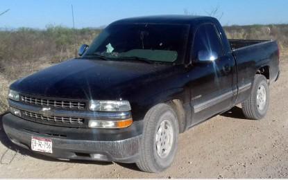 Aseguran camioneta en la carretera Parral a Jiménez