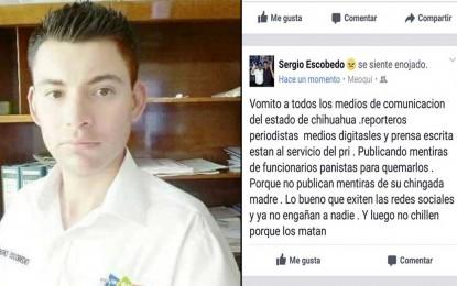 """Luego no chillen por que los matan"", dice funcionario de Meoqui a periodistas"