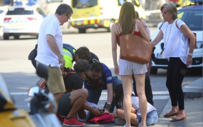 Vídeos del atentado terrorista en Barcelona