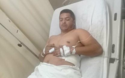 VERSIÓN: Municipal lesionado de Jiménez viajaba en Suburban con reporte de robo