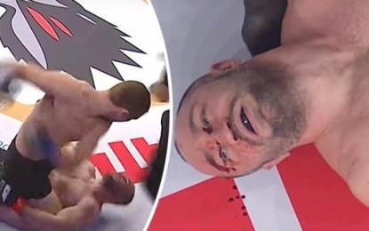 """Fuertes imágenes: """"Reviven"""" a peleador de MMA tras brutal KO"""