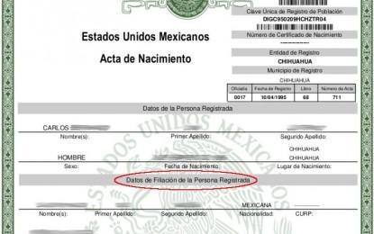 """Se queda todo México sin """"padre"""" y """"madre"""" en actas de nacimiento"""