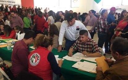 Registra PRI precandidatos a 33 alcaldías y sindicaturas; además para siete distritos locales electorales