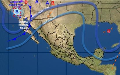 Pegará vórtice de núcleo frío a Chihuahua; mañana bajará temperatura