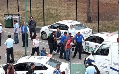 Balacera en la UNAM deja dos lesionados