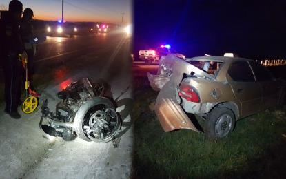Fallece motociclista en la carretera Delicias a Jiménez