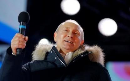 Putin logra una victoria aplastante en Rusia con el 76,7% de votos