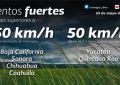 ¡Tome precauciones! Vientos de hasta 50 km/ h para el estado