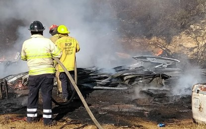 Se incendia deshuesadero de Vehículos en rancho Aranjuez