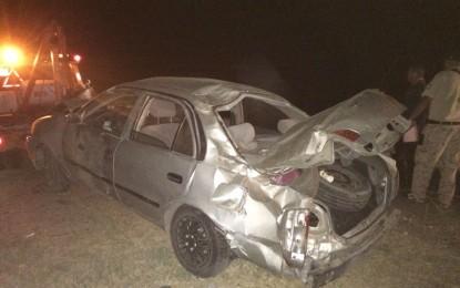 VÍDEO: Vuelca vehículo en salida de Santa Barbara; cinco lesionados