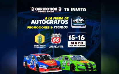 Exhibición de carros Nascar y firma de autógrafos en Parral