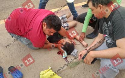 Menor atropellado en la vía corta es trasladado a Chihuahua; estado de salud grave
