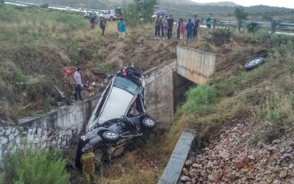 Identifican a los 7 lesionados en doble volcadura; originarios de Parral y Jiménez