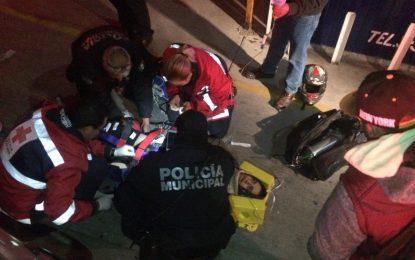 VIDEO: Accidente con motociclista deja joven gravemente lesionado