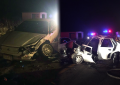 VÍDEO: Aparatoso choque frontal en rúa a Matamoros deja al menos dos lesionados