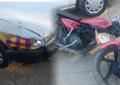 Taxista choca vs motociclista; un lesionado
