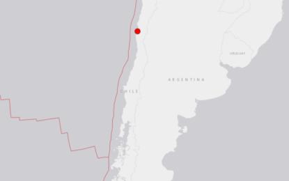 Se registra sismo de magnitud 6.7 en Chile