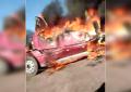 VIDEO: Se incendia camión en la vía corta Parral-Chihuahua