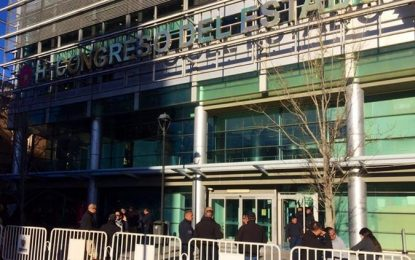 Pleitazo por desaparición de Secretaría en Congreso; restringen acceso