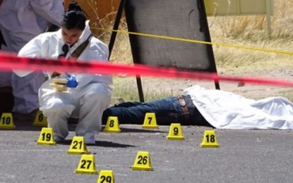 Aumentan 20.4% los homicidios en Chihuahua