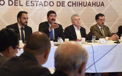 Anuncia Corral inversión de 315 mdp para Chihuahua este 2019