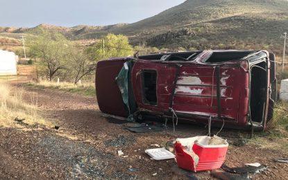 VIDEO: Vuelca familia a bordo de camioneta en salida a Matamoros