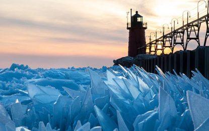 GALERÍA: ¡Hermoso deshielo! Así se despedaza el Lago Michigan