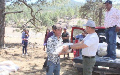 Presidencia Municipal Entrega apoyos alimentarios en comunidades de Guadalupe y Calvo