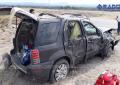 Volcadura deja 6 personas lesionadas en Camargo