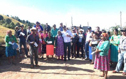 Entregan apoyos del Seguro Catastrófico Agrícola en Baborigame, Gpe. y Calvo