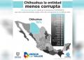 Es Chihuahua la entidad menos corrupta: encuesta Coparmex