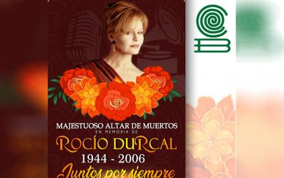 Mega altar de muertos del COBACH en honor a Rocío Durcal