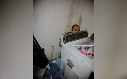 Encuentran detrás de su lavadora a hombre desaparecido en Sonora