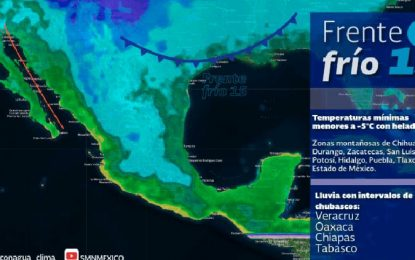 Lluvias y frío para Chihuahua tras Frente Frío Número 15