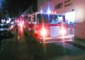 Incendio en negocios en el centro de la ciudad moviliza a bomberos
