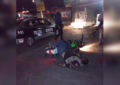 Accidente nocturno en la Villa Escobedo deja un motociclista lesionado