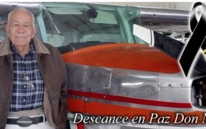 Muere el Capitán Aviador Ernesto Lozano