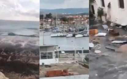 Impactante: así golpeó tsunami a Turquía tras terremoto (VÍDEO)