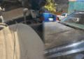 Repletos de aserrín vehículos aledaños a Duraplay