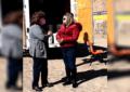 Entrega Angeles Gutiérrez material a Instituciones de educación básica
