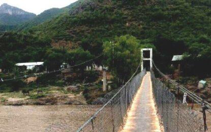 Falleció tras caer de puente colgante en Chínipas; está identificado
