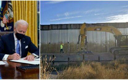 Decreta Biden frenar construcción del muro entre EE.UU. y México